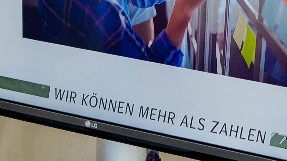Fernseher mit Präsentation