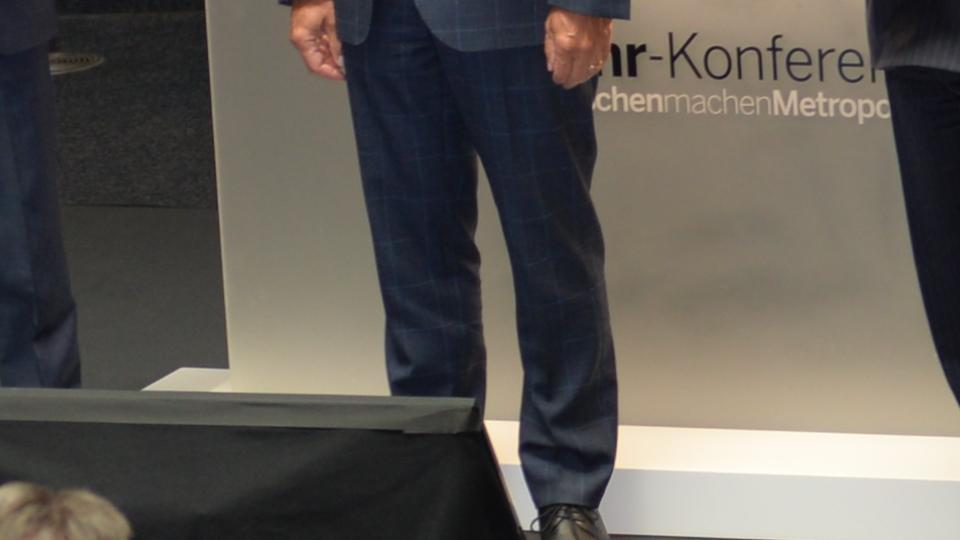 Minister Lienenkämper und Eckhard Forst auf Podium