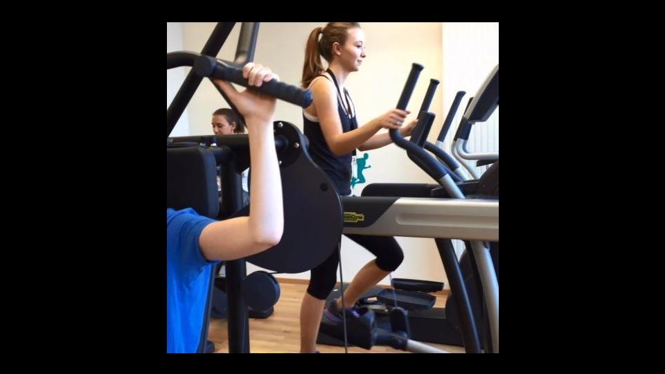 Einblick in den Fitnessraum